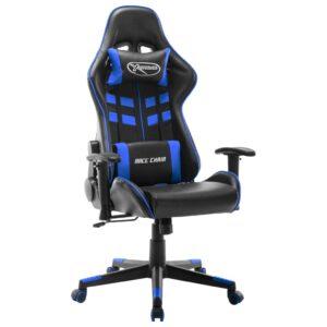 Cadeira de gaming couro artificial preto e azul - PORTES GRÁTIS