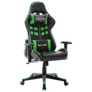 Cadeira de gaming couro artificial preto e verde - PORTES GRÁTIS
