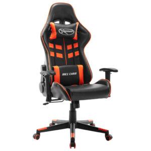 Cadeira de gaming couro artificial preto e laranja - PORTES GRÁTIS