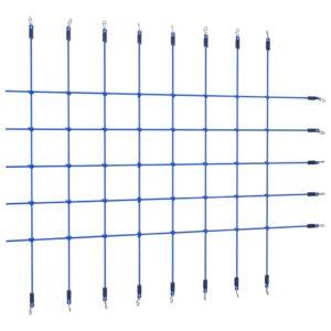 Rede de escalada 200x150 cm azul - PORTES GRÁTIS