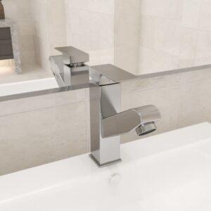 Torneira extraível p/ lavatório casa de banho 157x172 mm níquel - PORTES GRÁTIS
