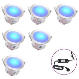 Iluminação 6 LEDs para pisos azul - PORTES GRÁTIS