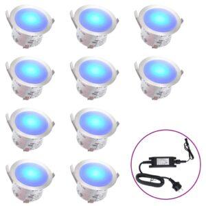 Iluminação 10 LEDs para pisos azul - PORTES GRÁTIS