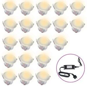 Iluminação 20 LEDs para pisos  branco quente - PORTES GRÁTIS