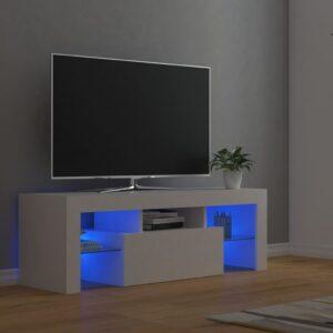 Móvel de TV com luzes LED 120x35x40 cm branco - PORTES GRÁTIS