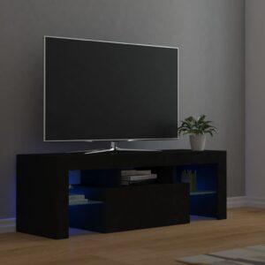 Móvel de TV com luzes LED 120x35x40 cm preto - PORTES GRÁTIS