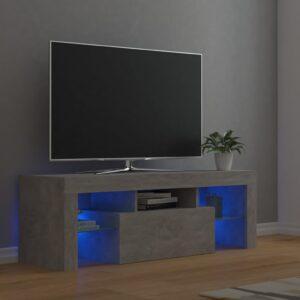 Móvel de TV com luzes LED 120x35x40 cm cinzento cimento - PORTES GRÁTIS