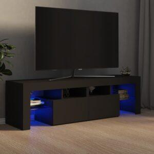 Móvel de TV com luzes LED 140x35x40 cm cinzento - PORTES GRÁTIS