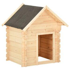 Casota para cão 125x80x100 cm madeira de pinho maciça - PORTES GRÁTIS