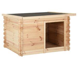 Casota para cão 80x80x100 cm madeira de pinho maciça - PORTES GRÁTIS