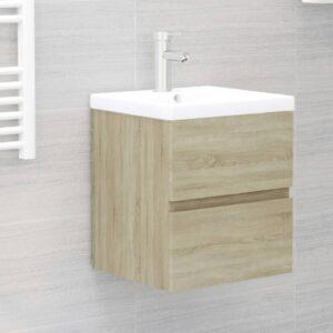 Armário lavatório c/ lavatório embutido contrap. carval. sonoma - PORTES GRÁTIS