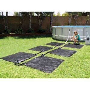 Intex Tapetes de aquecimento solar 6 pcs PVC 1,2x1,2 m preto - PORTES GRÁTIS