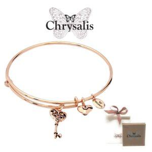 Pulseira Chrysalis® Key of Life  - Rose Gold - Tamanho Adaptável - Com Caixa ou Saco Oferta