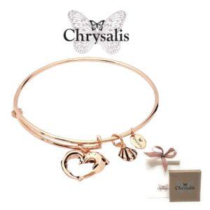 Pulseira Chrysalis® Aphrodites Heart  - Rose Gold - Tamanho Adaptável - Com Caixa ou Saco Oferta