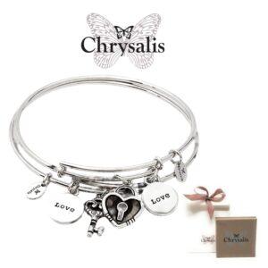 2 Pulseiras Chrysalis® Love  - 1 Pulseira Para Si e Outra Para Alguém Que Tem um Lugar  Especial no seu Coração (1+1)