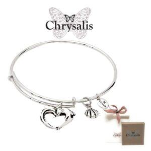 Pulseira Chrysalis® Aphrodites Heart  - Prateado- Tamanho Adaptável - Com Caixa ou Saco Oferta