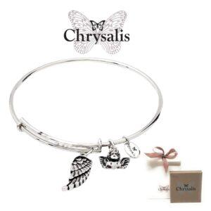 Pulseira Chrysalis® Guardian Angel - Prateado- Tamanho Adaptável - Com Caixa ou Saco Oferta