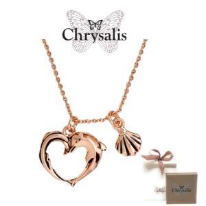 Colar  Chrysalis® Aphrodite`s Heart - Rose Gold- Com Caixa ou Saco Oferta