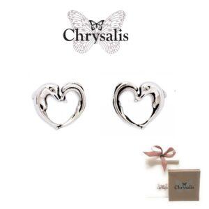 Brincos  Chrysalis® Aphrodite`s Heart - Prateado - Com Caixa ou Saco Oferta