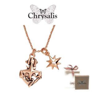 Colar  Chrysalis® North Star - Rose Gold- Com Caixa ou Saco Oferta