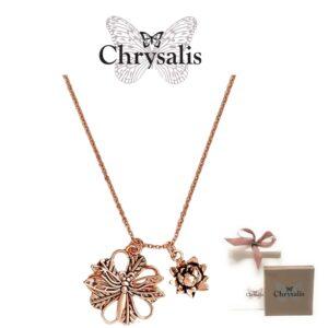 Colar  Chrysalis® DragonFly - Rose Gold- Com Caixa ou Saco Oferta