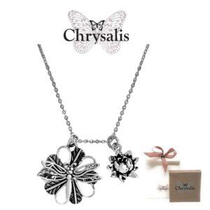 Colar  Chrysalis® DragonFly - Prateado - Com Caixa ou Saco Oferta