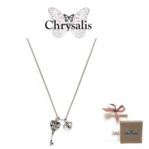 Colar  Chrysalis® Key of Life - Prateado - Com Caixa ou Saco Oferta