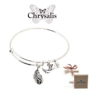 Pulseira Chrysalis® Virtue - Prateado - Tamanho Adaptável - Com Caixa ou Saco Oferta