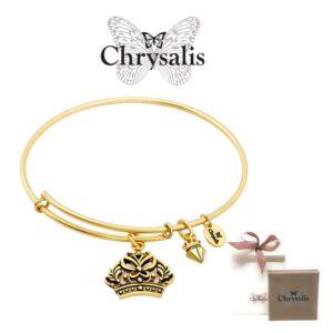 Pulseira Chrysalis® Crown - Gold - Tamanho Adaptável - Com Caixa ou Saco Oferta