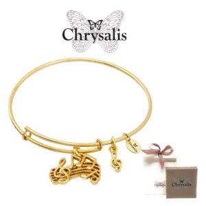 Pulseira Chrysalis® Music - Gold - Tamanho Adaptável - Com Caixa ou Saco Oferta