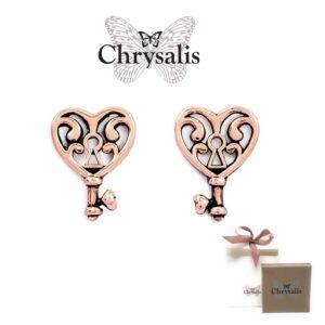 Brincos  Chrysalis® Key of Life - Rose Gold - Com Caixa ou Saco Oferta