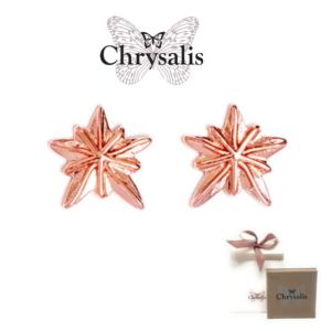 Brincos  Chrysalis® Sand Dollar - Rose Gold - Com Caixa ou Saco Oferta