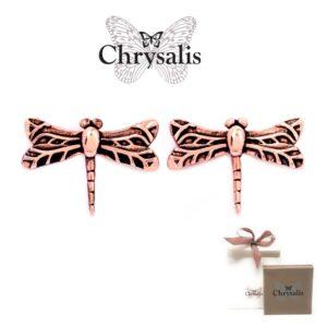 Brincos  Chrysalis® Dragonfly - Rose Gold - Com Caixa ou Saco Oferta