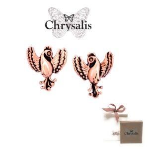 Brincos  Chrysalis® Phoenix - Rose Gold - Com Caixa ou Saco Oferta