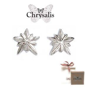 Brincos  Chrysalis® Sand Dollar - Prateado - Com Caixa ou Saco Oferta