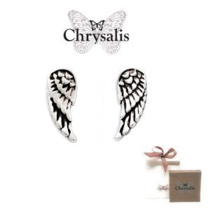 Brincos  Chrysalis® Guardian Angel - Prateado - Com Caixa ou Saco Oferta