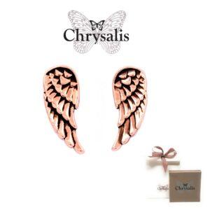Brincos  Chrysalis® Guardian Angel - Rose Gold - Com Caixa ou Saco Oferta
