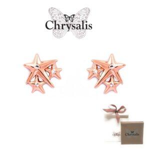Brincos  Chrysalis® Lucky Star - Rose Gold - Com Caixa ou Saco Oferta