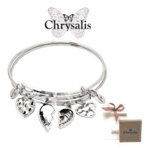 2 Pulseiras Chrysalis® Best Friends - 1 Pulseira Para Si e Outra Para a Sua Mãe, Amor sem Limites (1+1)