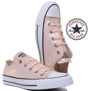 Converse® Sapatilhas All Star  Ox Metallic Lace - Tamanho 35