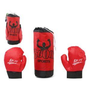 Saco de Boxe & Luvas Vermelho118020