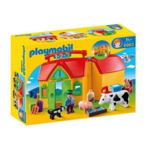 Playset Playmobil 1.2.3 Farm Playmobil (17 pcs)