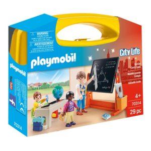 Playset City Life School Carry Case Playmobil 70314 (29 pcs)