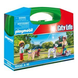 Playset City Life Dog Walking Carry Case Playmobil 70530 (17 pcs)