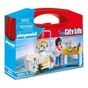 Playset City Life Nursery Carry Case Playmobil 70531 (22 pcs)