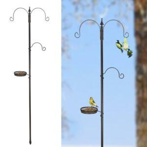 HI Comedouro de pássaros para jardim preto - PORTES GRÁTIS