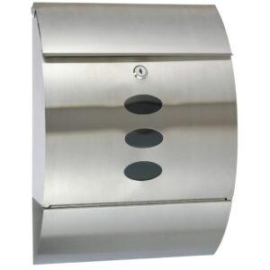 HI Caixa de correio aço inoxidável 30x12x40 cm - PORTES GRÁTIS