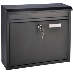 HI Caixa de correio 36x12x32 cm preto - PORTES GRÁTIS