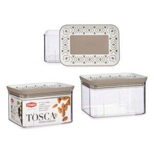 Caixa Stefanplast Tosca Bege Plástico (700 ml)