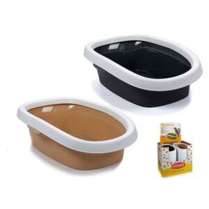 Caixa de Areia para Gatos Plástico (58 x 17 x 38,5 cm)